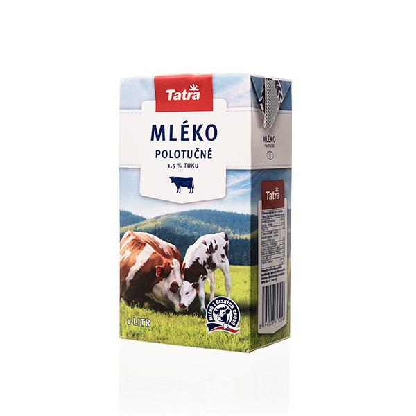 Polotučné mléko