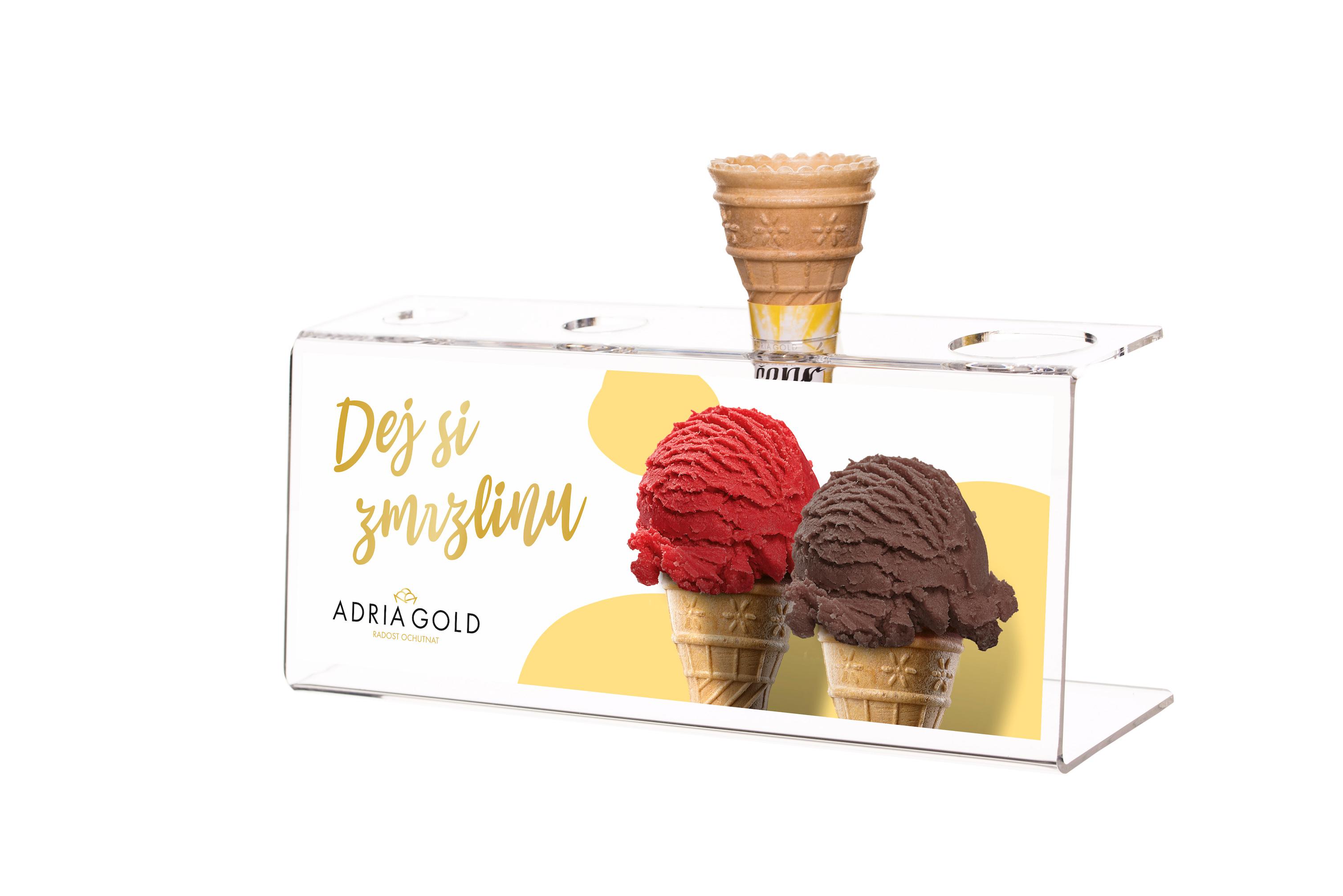 Stojánek na kopečkovou zmrzlinu